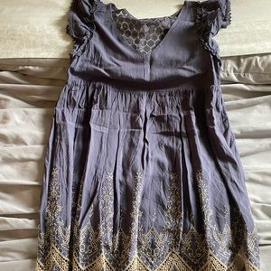 Altar'd State Periwinkle Lace Back Dress